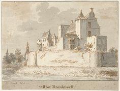 Kasteel Bronkhorst bij Doesburg, Cornelis Pronk, 1701 - 1759