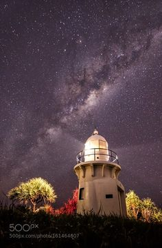Lighting Up the Night Fingal Head lighthouse doing its best to light the way for…