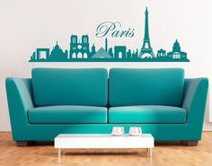 Paris Skyline Decal