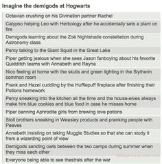 Harry Potter and Percy Jackson cross over. Leo is Seamus Finigan