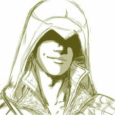 Starker inspiration (Ezio by on deviantART) Assassins Creed Dibujos, Assassins Creed Funny, Assassins Creed Series, Assessin Creed, All Assassin's Creed, Assasins Cred, Knight Tattoo, Drawing Sketches, Drawings