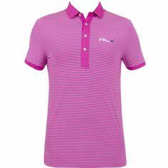 RLX Ralph Lauren Fine Stripe Airflow Jersey Vivid Pink #golf #fashion #trendygolf