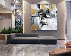 Apartment Decor Original Art Artwork Acrylic Painting | Etsy Oversized Wall Art, Bathroom Wall Art, Extra Large Wall Art, Modern Wall Art, Abstract Art, Original Art, The Originals, Canvas, Artwork