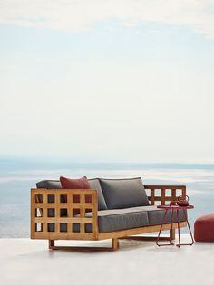 Square 3-personers sofa af Cane-line