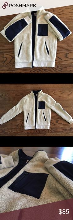 Mens J.Crew Grizzly Zip Jacket Size Small Great condition. Chest pocket and slant pockets. Machine washable. Size small. J. Crew Jackets & Coats Performance Jackets