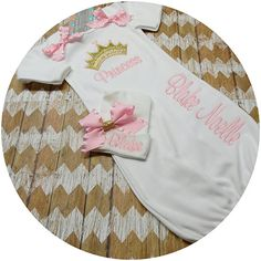 Check out this item in my Etsy shop https://www.etsy.com/listing/261160109/baby-girls-embroidery-princess-take-home