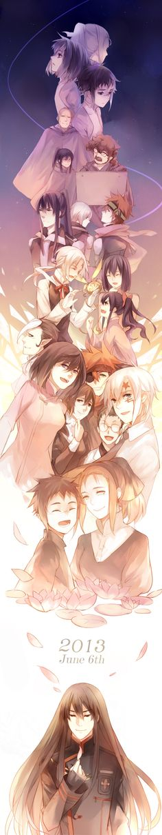 Kanda when he was young and as he grew older. Characters: Kanda, Alma, Marie, Froi Tiedoll, Allen, Lavi, Timcanpy, Lenalee, Krory, Miranda, and Johnny.