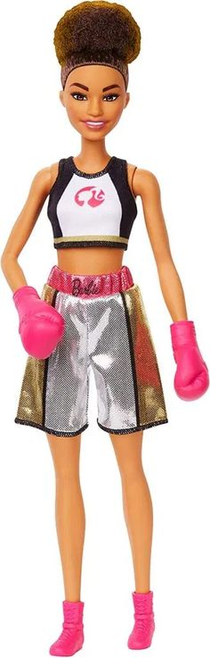 BOTTOM~BARBIE DOLL SILVER GOLD BLACK PINK BOXER BOXING SHORTS ACCESSORY CLOTHING