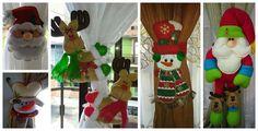 Aprende a hacer lindos sujeta cortinas navideños con muñecos de fieltro ~ Mimundomanual Christmas Stockings, Christmas Ornaments, Ideas Para, Advent Calendar, Holiday Decor, Crafts, Home Decor, Throw Pillows, Christmas Angel Ornaments