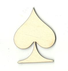 Playing Card Spade Unfinished Laser Cut Wood Shape TOY9