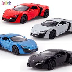 Ewellsold 1/32 Hypersport of Fast &Furious Alloy Diecast Car Model Pull Back Toy Cars Electronic light&sound Car Kids Toys Gifts