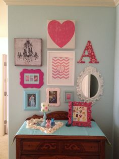 Girls room gallery wall