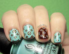 Nail Wish: Louis Vuitton Nails, how freakin cute!