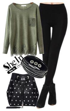 """SHeIn"" by deedee-pekarik ❤ liked on Polyvore featuring legging, shein and blacklegging"