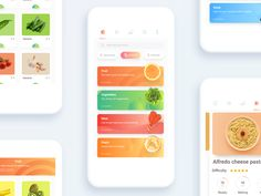 Food Shopping APP by carol okk App Ui Design, Mobile App Design, Food Design, Web Design, Mobile Ui, Graphic Design, Grocery List App, Website Design Layout, Ui Design Inspiration