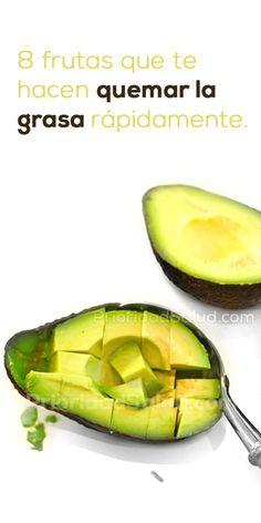 Estas 8 frutas que te hacen quemar grasa rápidamente.