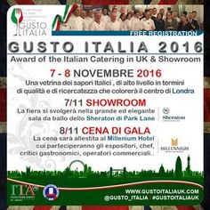 Come and enjoy Italian enogastronomic excellenciens.  The aim of the event is to build bridges between the UK and Italy and make sure the best Italian products are reaching the UK market.  FREE ENTRY REGISTER AT  http://www.gustoitaliauk.com/registrazione/