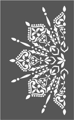 Stencil Mylar 125 Micron Mandala Wall Art Furniture Fabric Vintage Shabby Chic 3 - Picture 4 of 10 Informations About Stencil Mylar 125 Micron Mandala Wall Art Furniture Fabric Vintag - Mandala Tattoo Design, Mandala Drawing, Mandala Art, Art Furniture, Henna Kunst, Schrift Tattoos, Buddha Tattoos, Stencil Painting, Stencil Wall Art