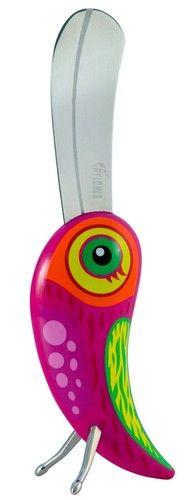 keladeco.com - #couteau à #beurre #oiseau fanfaron rose, idée cadeau originale oiseau - PYLONES