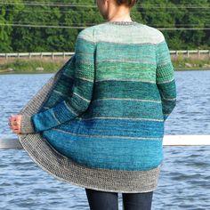 Knitting Patterns Ravelry BlueSand Cardigan pattern by La Maison Rililie. FO by on ravelry. Knitting Yarn, Free Knitting, Knitting Patterns, Vogue Knitting, Stitch Patterns, Crochet Patterns, Knit Cardigan Pattern, How To Purl Knit, Knit Or Crochet