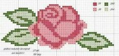 New Embroidery Rose Pattern Design Cross Stitch Ideas Mini Cross Stitch, Cross Stitch Borders, Cross Stitch Flowers, Cross Stitch Designs, Cross Stitching, Cross Stitch Embroidery, Embroidery Patterns, Cross Stitch Patterns, Tapestry Crochet