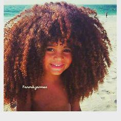 Farouk James cute kid afro black hair 💙 love his hair! Kinky Curly Hair, Curly Hair Styles, Natural Hair Styles, Long Natural Hair, Natural Curls, Natural Kids, Natural Beauty, Black Hair Afro, Afro Hair