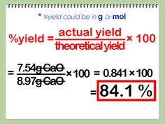 How to Calculate Percent Yield in Chemistry. In chemistry, the theoretical yield is the maximum amount of product a chemical reaction could create based on chemical equations. Physical Chemistry, Chemistry Notes, Teaching Chemistry, Additional Science, Natural Skin Whitening, Chemical Equation, Learning Styles, Organic Chemistry, Physiology