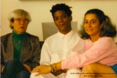 Andy Warhol, Jean-Michel Basquiat and Joan Agananian Quinn.  Photo: Joan and Jack Quinn Collection