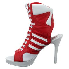 0bd987b89c329c Trendy and unique Adidas Originals Sneaker-styled Stiletto heel for Women  of exclusive taste. This Jeremy Scott designed lace-up heel has peep-toe