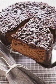 Čokoládový cheesecake s drobenkou