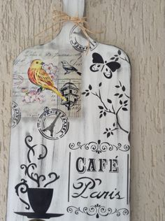 me ~ diy decorations diy decorations Diy Crafts Hacks, Home Crafts, Chalk Crafts, Concrete Crafts, Decoupage Art, Diy Décoration, I Love Coffee, Vintage Crafts, Diy Wood Projects