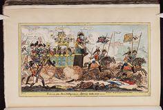 6 September 1815.Bodleian Libraries, Return of the Paris dilligence or-Boney rode over.Satire on the Bourbon restoration. (British political cartoon)