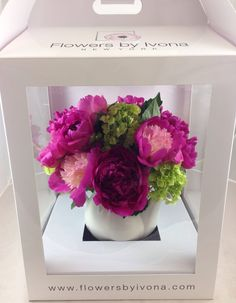 Photo of Flowers By Ivona - New York, NY, United States. Another example of our teapot arrangement with lovely peonies.