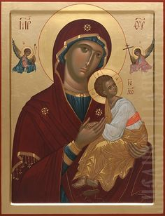 The Icon Painting Studio of St Elisabeth Convent will paint an icon of the Mother of God of the Passion to order, with the minimal size being cm. We can decorate the painted icon with chiseling, gemstones, and a kiot Catholic Radio, Paint Icon, Byzantine Icons, Painting Studio, Madonna And Child, Orthodox Icons, Mother Mary, Religious Art, Our Lady