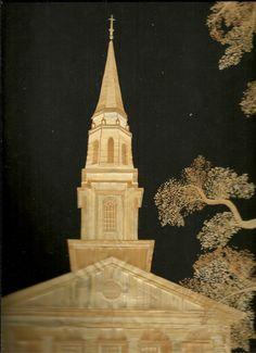 Galveston First Baptist Church  Handmade leaf art of First Baptist Church by museumshop, $189.00