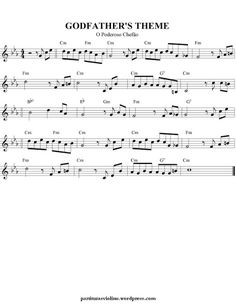 Free Sheet Music for Violin: Movies Themes