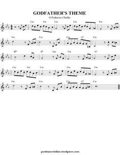 Free Sheet Music for Violin: Movies Themes