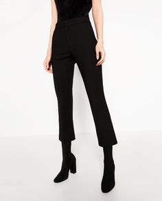 CROPPED FLARED TROUSERS-Smart-TROUSERS-WOMAN | ZARA United States
