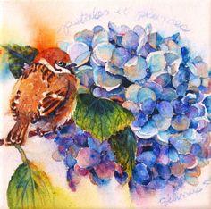 Nicole Gélinas ~ Petals and Feathers ~ Watercolor