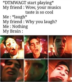 For everything Panic At The Disco check out Iomoio Emo Band Memes, Emo Bands, Music Bands, Lane Boy, Death Of A Bachelor, Dallon Weekes, Brendon Urie, Music Memes, Panic! At The Disco