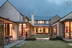 Large windows (prefer white) Varied roof lines ok