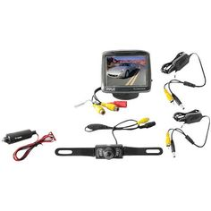 "3.5"" Wireless Rearview Camera & Monitor System with Night Vision - PYLE - PLCM34WIR"