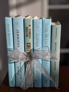 Spa Colors, Ocean Colors, Green Books, Blue Books, Marriage Games, Book Centerpieces, Gold Book, Small Book, Cottage Chic