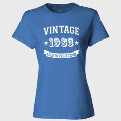 Vintage 1983 Aged To Perfection tshirt - Ladies' Cotton T-Shirt