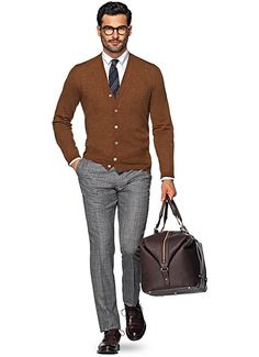 Cardigan Rouille Sw558   Suitsupply Online Store