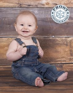 6 month baby boy overalls portrait - Google Search