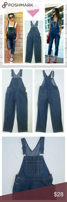 """NWT Adorable & Comfy Bib Overalls Small Petite The best brand new overalls! Amazingly versatile and a must in every closet! Roll them up, throw on some cute shoes and a tee and you're  ready to go! Not really sure why these are a petite. The inseam is 27"""" so if they're rolled up they would work as a regular small. Excellent  new condition Love these!! Sorry no trades. St. John's Bay Jeans Overalls"""