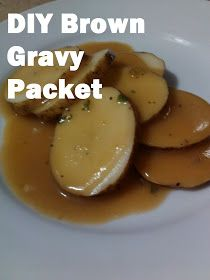 My American Confessions: Wednesday: DIY Brown Gravy Packet * I added 1 tsp Worcestershire sauce Homemade Dry Mixes, Homemade Spices, Homemade Seasonings, Homemade Food, Gravy Packet, Sauces, Do It Yourself Food, Beef Gravy, Recipe Mix