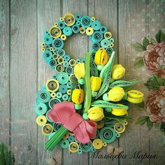 Quilling Paper Craft, Easy Paper Crafts, Quilling Flowers, Paper Flowers, Diy And Crafts, Women's Day Cards, Quilling Techniques, Origami, Quilling Designs