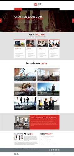 JLL real estate news site Real Estate News, New Trends, Ui Design, Dreaming Of You, This Is Us, Website, Red, New Fashion, User Interface Design